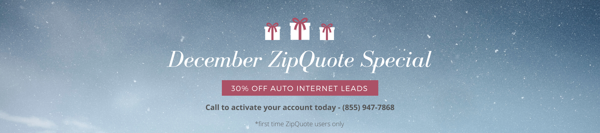 ZipQuote December Lead Sale