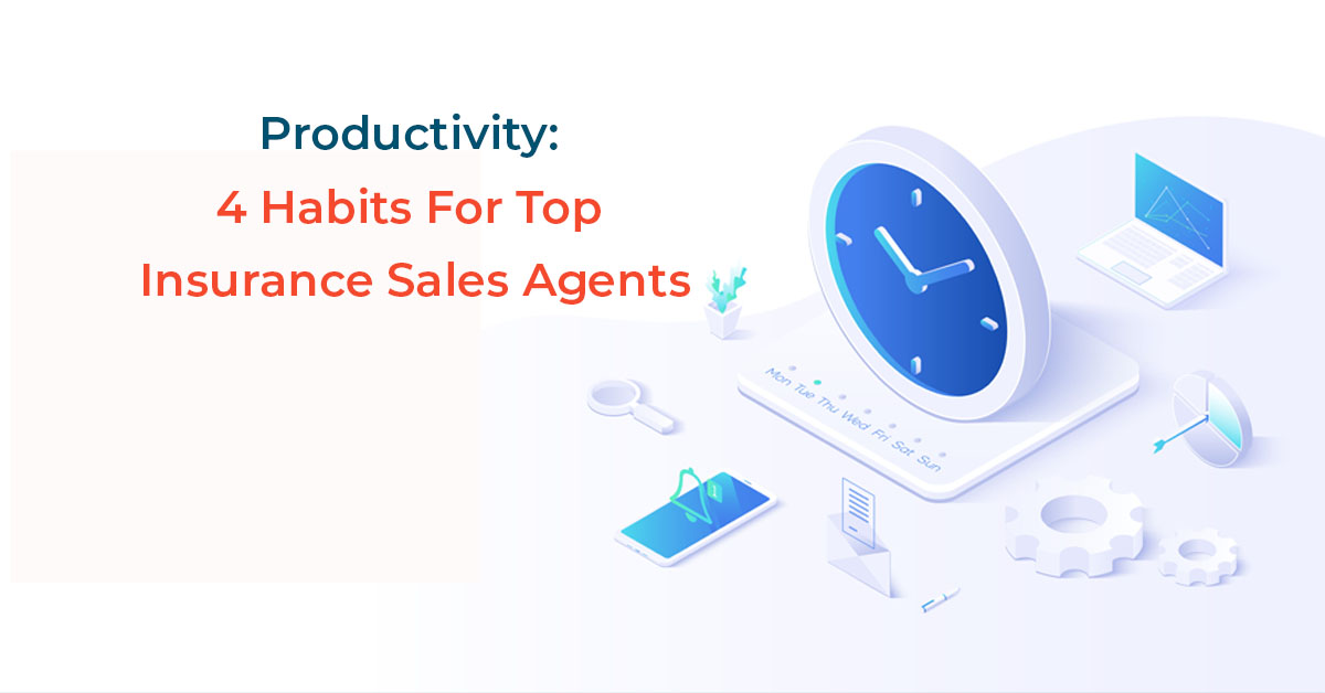 Productivity habits for top insurance agents clock and phone