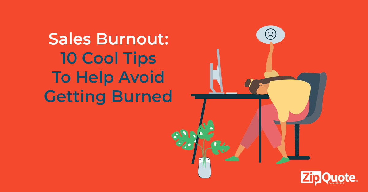 10 cool tips to avoid sales burnout person at their desk defeated