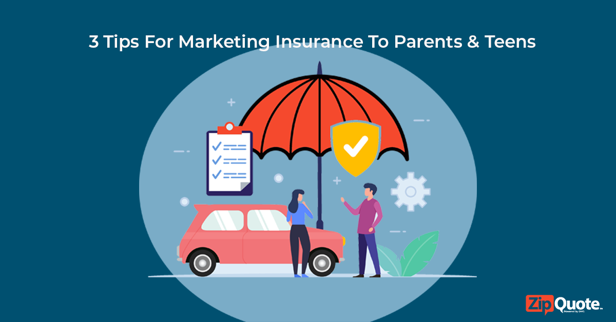dad and daughter standing by car marketing insurance to parents & teens