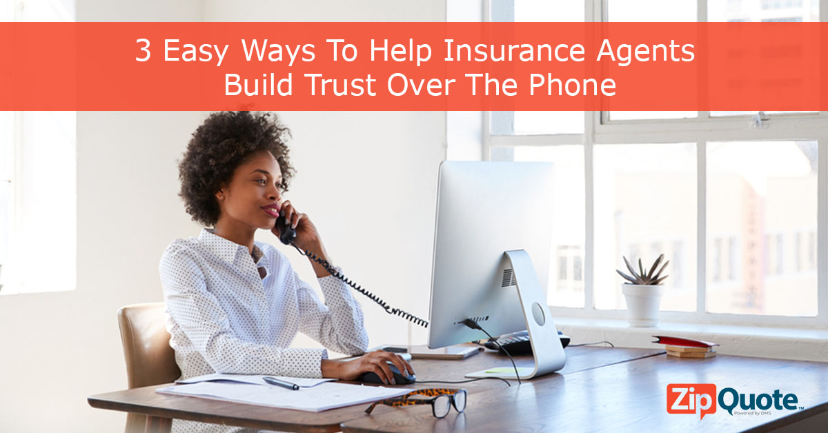 Women sitting at desk on her phone- 3 easy ways to build trust over the phone sales