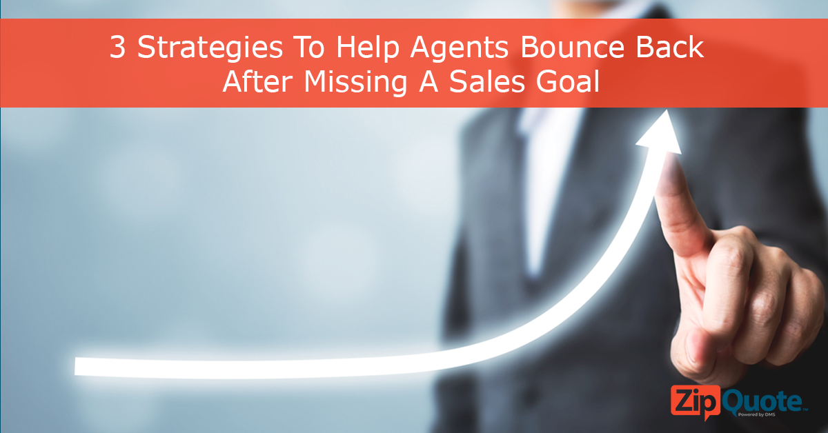 Showing growth over time, how insurance agents can bounce back after missing a sales goal