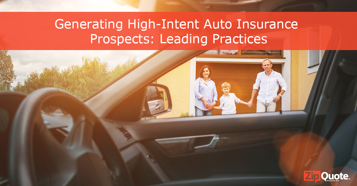 Parents standing with their child, generating high-intent auto insurance prospects: leading practices