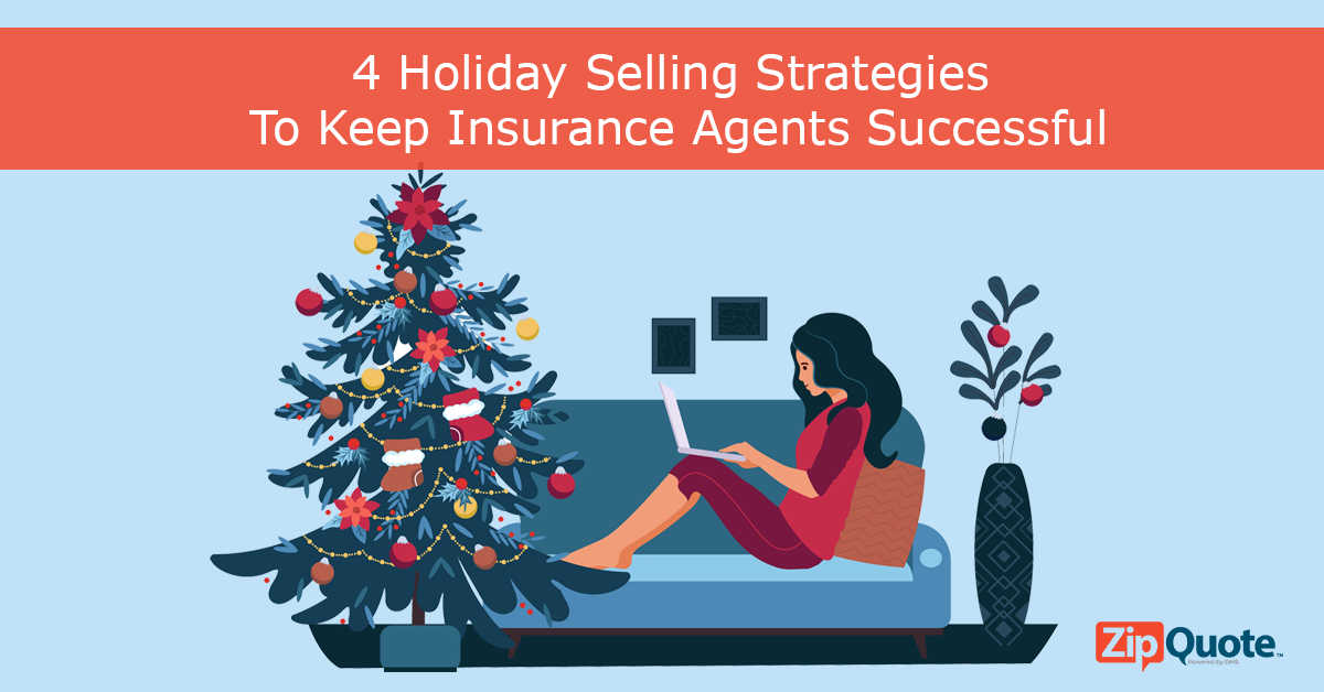 Woman on her laptop keeping up with holiday selling with tips from ZipQuote