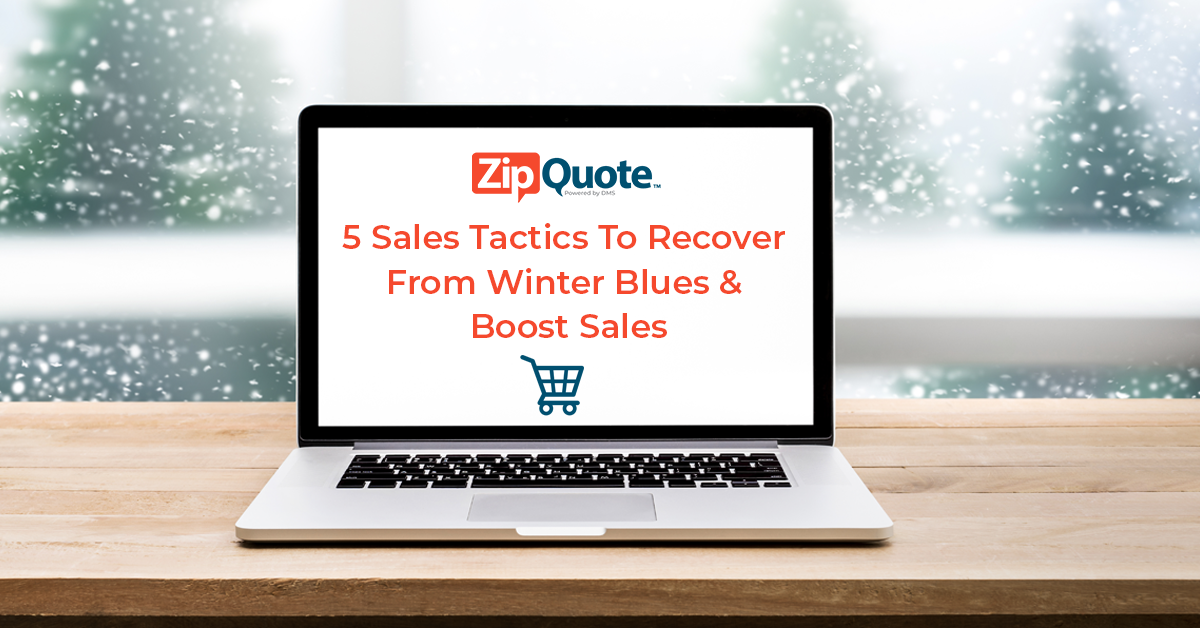 sales strategy to recover from winter blues
