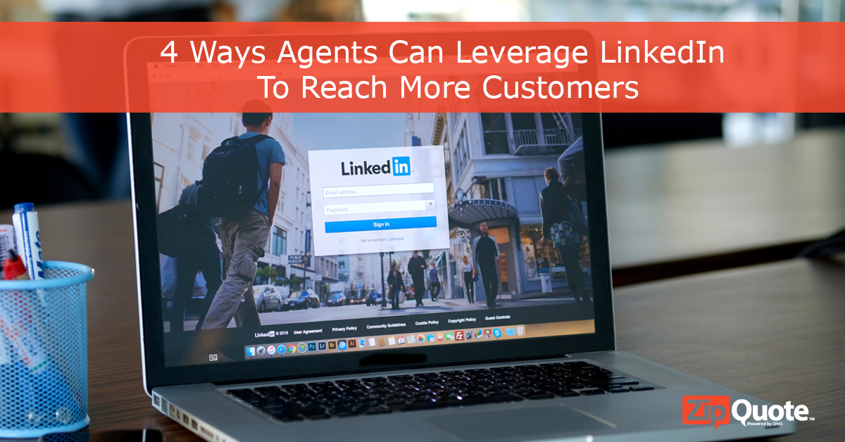 Insurance sales agents can leverage linkedin to connect with more customers and generate leads