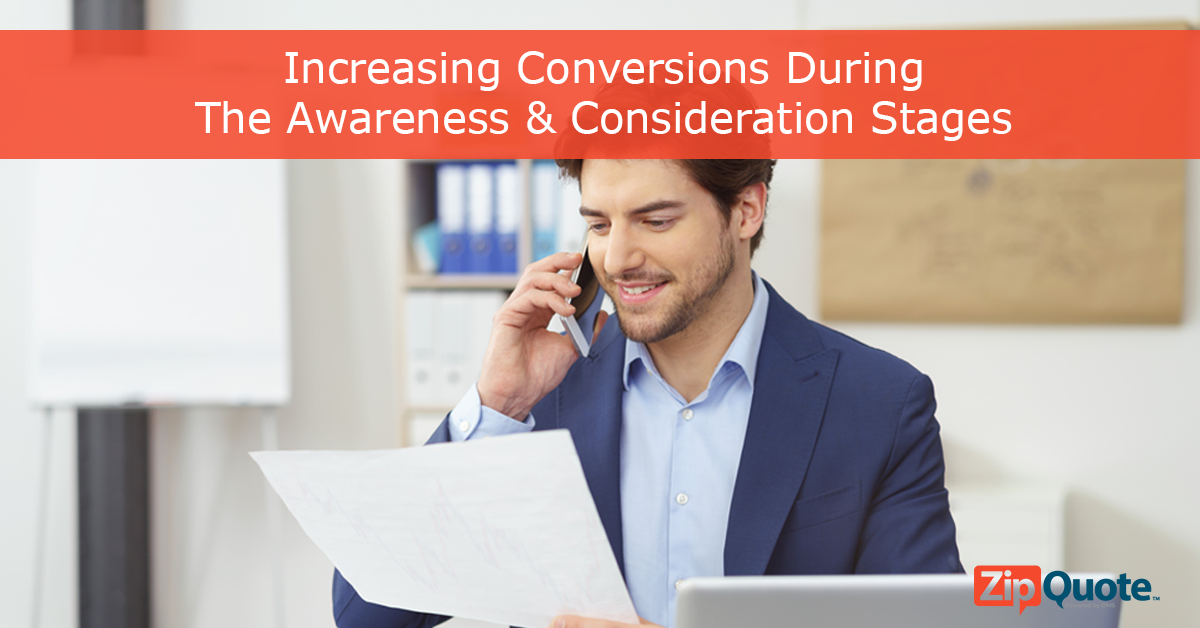 increasing conversions during the awareness and consideration stages of the sales funnel